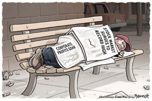 Wall Street soars---How about a living wage job