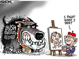 Dubya Bush, 'I Paint What I See,' by Steve Sack
