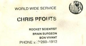 Chris Pfouts b