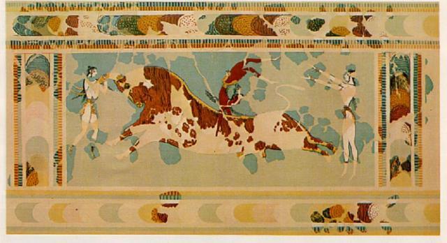 bull-leap-fresco-ashmolean-museum-second-version