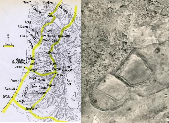 mideast-map-and-israelite-gilgal-enclosure