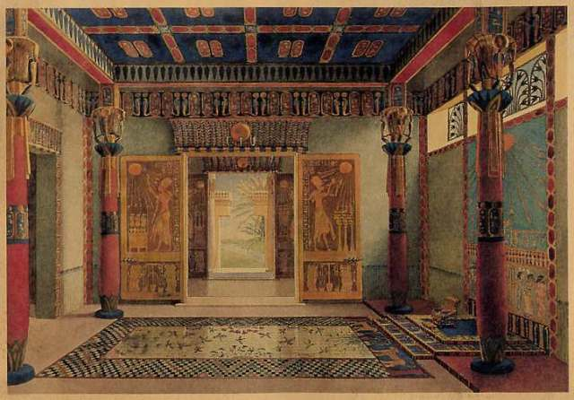 [275] Egyptian imperial hall of audience & throne