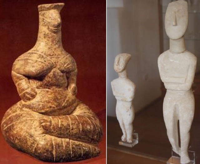 Cycladic figures, Gi-Gaia and ancestors