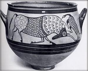 Mycenaean vase from Enkomi Cyprus c 1300