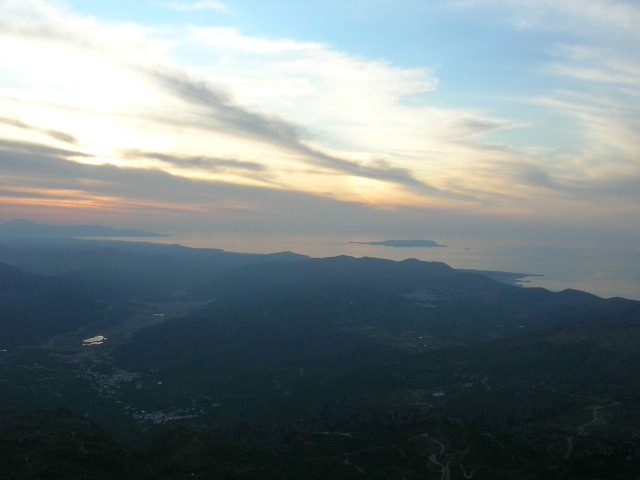 sunset view of Dia from Karfi