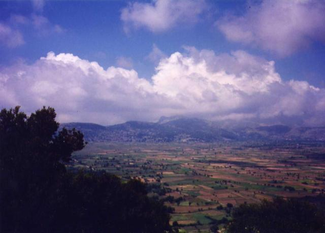 view east over Lasithi Plateau from Dikte Cave