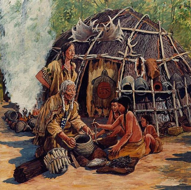 native female making pot